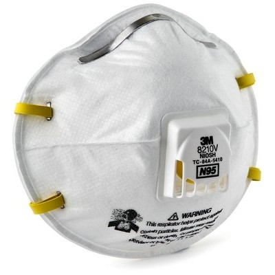 With Lightweight Particulate Valve 8210v Respirator 3m
